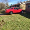 Red 2007 Ford Mustang V6 automatic [SOLD]