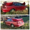 Laser Red Metallic 1998 Ford Mustang V6 automatic For Sale