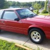 Red 1988 Ford Mustang w/ big wheels & tires For Sale