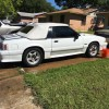 3rd gen white 1992 Ford Mustang convertible 5.0L For Sale