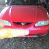 4th gen red 1995 Ford Mustang V6 3.8L automatic For Sale