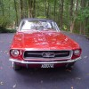 1st gen red 1967 Ford Mustang convertible automatic For Sale