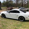 4th generation white 2000 Ford Mustang GT manual For Sale