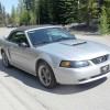 4th gen silver 2001 Ford Mustang GT convertible For Sale