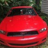 5th generation wrecked red 2010 Ford Mustang 4.0 For Sale