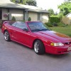 Red 1998 Ford Mustang GT convertible V8 automatic For Sale