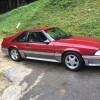 3rd generation red 1993 Ford Mustang GT V8 manual For Sale