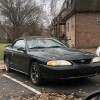 4th gen black 1998 Ford Mustang GT convertible For Sale