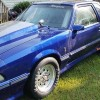 3rd generation blue 1984 Ford Mustang GT drag car For Sale