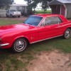 1st gen classic red 1966 Ford Mustang automatic I6 For Sale