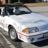 3rd gen Triple White 1988 Ford Mustang GT convertible For Sale