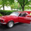 1st gen Candy Apple Red 1968 Ford Mustang manual For Sale