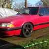 3rd generation red 1990 Ford Mustang LX 5spd manual For Sale