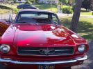1st generation red 1965 Ford Mustang 6 cylinder 4spd For Sale