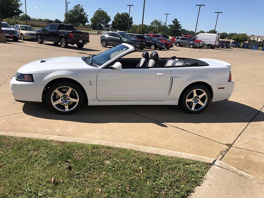 white 2004 ford mustang svt cobra convertible for sale mustangcarplace. Black Bedroom Furniture Sets. Home Design Ideas